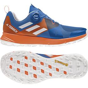 adidas TERREX Two Boa Trail-Running Shoes Men Blue Beauty/Grey One/Orange